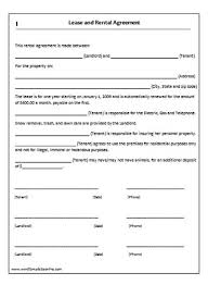 lease agreement template sample format
