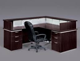 Office Desk L L Shaped Glass Desk With Drawers Foter