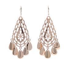 Rose Gold Chandelier Earrings Au Naturale Chandelier Earrings