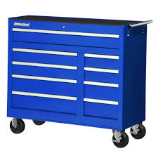 Husky Side Cabinet Tool Box Husky 56 In 10 Drawer Cabinet Tool Chest Blue Vrb 5610buhu The