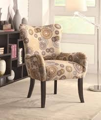 funiture uphlstered accent chairs with circle patterns and arm