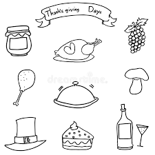 doodle of draw thanksgiving object stock vector illustration