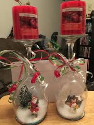 wine glass snow globes wine glass snow globe holidayyyys globe snow and wine