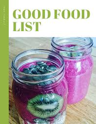 good food list fitness soul