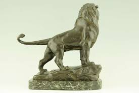 antique bronze lion antique bronze lion by maurice favre 1895 at 1stdibs