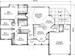 Bungalow Floor Plans With Basement 44 Best Houseplans 1500 1599 Images On Pinterest House Floor