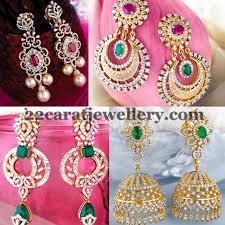 earrings in grt diamond earrings by grt jewellery designs