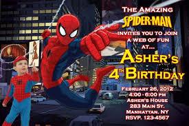 colors classic free printable spiderman birthday invitation