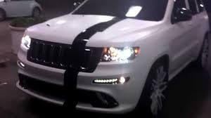 white jeep hood matte white srt 8 jeep on concave forgiatos in atl ga youtube