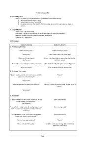 lesson plan grammar punctuation sentence linguistics plans