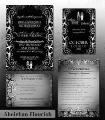 gothic wedding invitation halloween wedding invite set