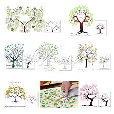 Wedding Trees Aliexpress Com Buy Unique Wedding Fingerprint Trees Guest Book