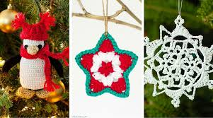 tis the season to crochet ornaments 12 free patterns