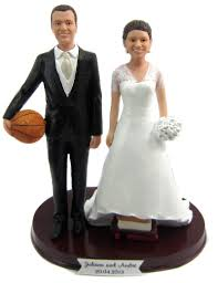 sports cake toppers and groom wedding cake topper customized to