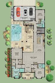 coastal colonial florida house plan 71550 elevation house plans