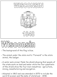 united states symbols coloring pages wisconsin state flag