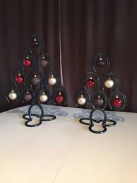 horseshoe christmas tree handmade horseshoe christmas tree set
