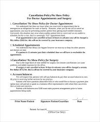 cancellation policy template 8 free documents download in pdf