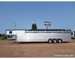 cattle trailer lighted sign 2014 featherlite gn stock 8413 8 x 34 stock combo at gold medal