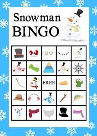 Halloween Bingo Free Printable Cards by Printable Snowman Bingo Game Crazy Little Projects