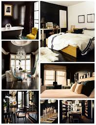 Black Painted Walls Bedroom Interior Color Inspirations The Bold U0026 Dramatic Statement Of