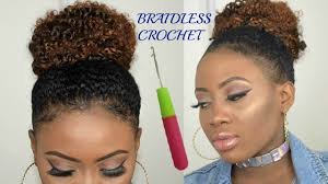 crochet hair braidless crochet braids high bun jerry curl bohemian