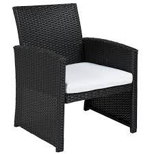 Black Wicker Patio Furniture Sets by Bcp Outdoor Garden Patio 4pc Cushioned Seat Black Wicker Sofa