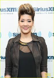 tessanne chin new hairstyle tessanne chin ethan hawke siriusxm studio guests photo