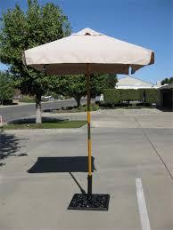 Square Patio Umbrellas 5 Square Wood Market Umbrellas With Sunbrella Canvas