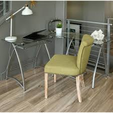 Modern Glass Desks For Home Office by Photos Hgtv Glass Desk With White Chair And Shelves Loversiq
