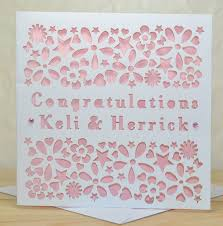 congratulations engagement card personalised laser cut engagement card by sweet pea design