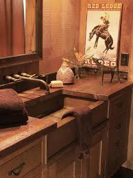 southwestern bathroom design and decor hgtv pictures recycled bathroom and vanity