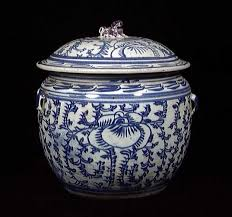 white ginger jar l a ching lidded blue and white ginger jar c 17th 19th century
