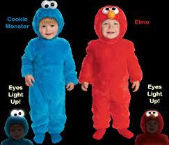 Toddler Monster Halloween Costume Child Toddler Tv Show Sesame Street Cookie Monster Elmo Light Up