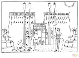 temple of khonsu coloring page free printable coloring pages