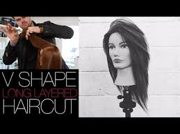 upside down v shape haircut v shaped haircut how to cut a long layered v shape haircut