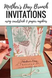 s day brunch invitations simple s day brunch invitations using paper napkins instead