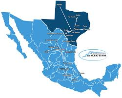 Coahuila Mexico Map by Ca Ri Autotransports Llc