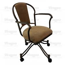 Dining Chairs With Casters Tempo Furniture Charleston Swivel U0026 Tilt Dining Arm Chair With
