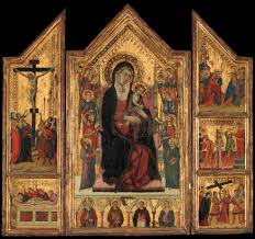 simone martini artist master of monte oliveto madonna and child enthroned the met