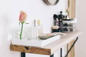 small table with shelves space dressing table and beauty station ideas