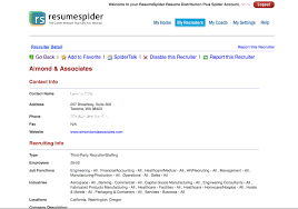 Hr Recruiter Job Description For Resume by Resumespider Targeted Resume Distribution Service To Employers And
