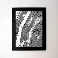 New York City Street Map by New York Map Laser Cut Map New York City Nyc Street Map