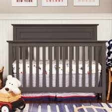 Solid Back Panel Convertible Cribs Chestnut Crib Wayfair