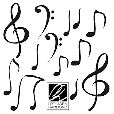 set of mini musical notes stickers by leonora hammond