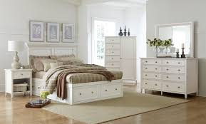 Storage Bedroom Set Ellsworth 4 Piece King Storage Bedroom Set White Levin Furniture