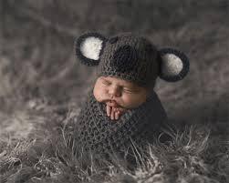 Newborn Photography Baby Koala Hat Unisex Newborn Photography Prop Newborn Size