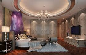 Master Bedroom Interior Design Purple 19 Extravagant Round Bed Designs For Your Glamorous Bedroom