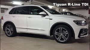 volkswagen tiguan white 2016 2016 vw tiguan r line tdi autobahn top speed youtube