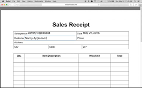 blank invoice template sales receipt word billing no tax long